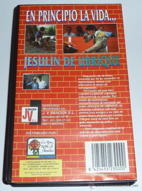 Cine: Jesulin de Ubrique, En Principio la Vida... Muy rara cinta de video vhs 1995 torero toros toreo - Foto 2 - 40932212