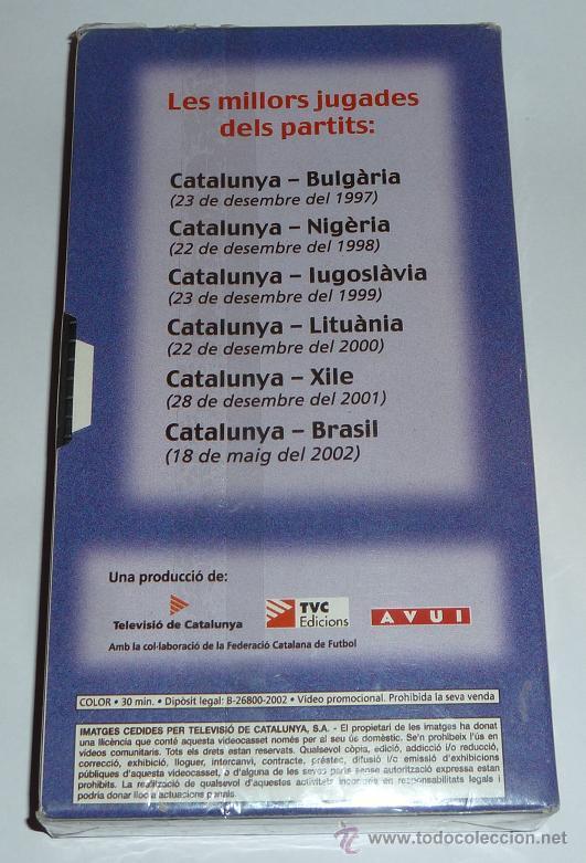 Cine: El video de la seleccio catalana de futbol.PRECIN Seleccion de cataluña cinta de video vhs catalunya - Foto 2 - 40932307