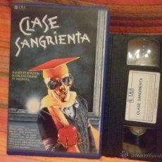 Cine: CLASE SANGRIENTA-TERROR VHS --BRAD PIT--ASESINADO VILMENTE. Lote 41051686