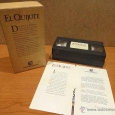 Cine: EL QUIJOTE. EDICIÓN ESPECIAL BANCO CENTRAL HISPANO. 2 VHS. AÑO 1992.. Lote 41073958
