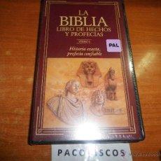 Cine: LA BIBLIA LIBRO DE HECHOS Y PROFECIAS VIDEO I TESTIGOS JEHOVA VHS DOCUMENTAL PRECINTADO WATCHTOWER. Lote 131154340