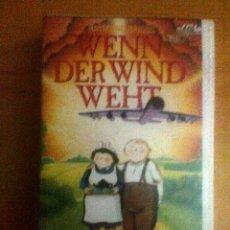 Cine: WENN DER WIND WEHT AKA CUÁNDO EL VIENTO SOPLA - VHS - ANIMACIÓN. Lote 41133233
