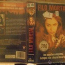 Cine: FILO MORTAL -VHS. Lote 41166010