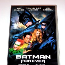 Cine: BATMAN FOREVER (1995) - VAL KILMER NICOLE KIDMAN CHRIS O'DONNELL TOMMY LEE JONES JIM CARREY VHS. Lote 41231654