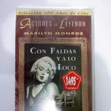 Cine: VIDEO VHS CON FALDAS Y A LO LOCO, MARYLIN MONROE - PRECINTADO. Lote 41250237