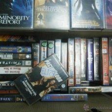 Cine: SUPER LOTE DE 55 PELICULAS DE ACCION -VHS LEER. Lote 41332471