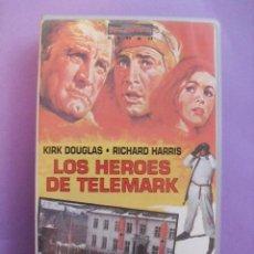 Cine: LOS HEROES DE TELEMARK. ANTHONY MANN. 1965,REINO UNIDO. VHS.. Lote 41344386