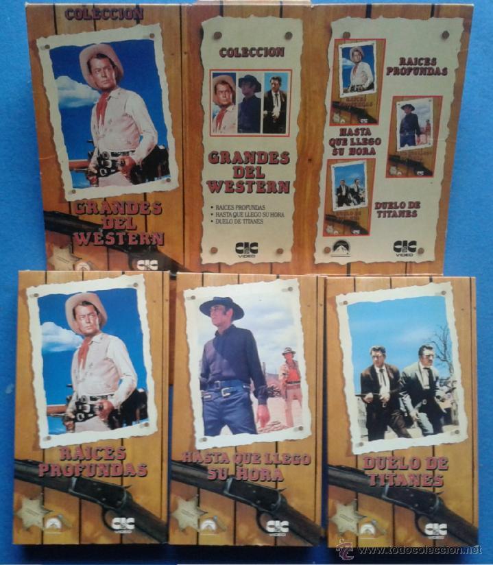 GRANDES DEL WESTERN - RAICES PROFUNDAS / HASTA QUE LLEGO SU HORA / DUELO DE TITANES (Cine - Películas - VHS)