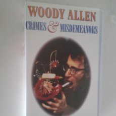 Cine: WOODY ALLEN - CRIMES AND MISDEMEANORS. Lote 41505610