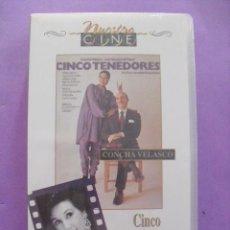 Cine: CINCO TENEDORES. CONCHA VELASCO. FERNENDO FERNAN GÓMEZ, 1980. VHS, PRECINTADA.. Lote 41677885