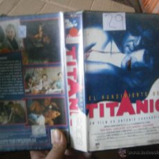 Cine: EL HUNDIMIENTO DEL TITANIC -VHS. Lote 41791214