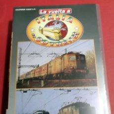 Cine: LA VUELTA A ITALIA EN 80 TRENES CINTA VHS MODELOS HISTORIA MODELISMO MAQUETAS TREN FERROCARRIL . Lote 41800620