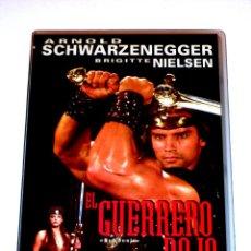 Cine: EL GUERRERO ROJO (1985) - RICHARD FLEISCHER ARNOLD SCHWARZENEGGER BRIGITTE NIELSEN VHS MANGA FILMS. Lote 41818147