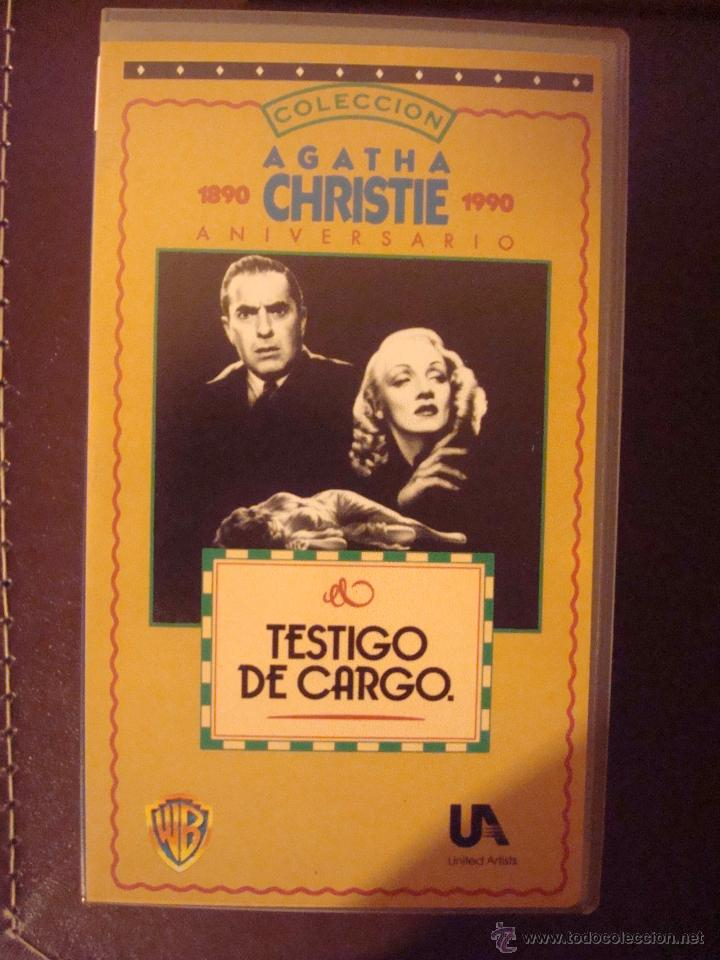 # VHS TESTIGO DE CARGO - MARLENE DIETRICH (Cine - Películas - VHS)