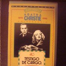 Cine: # VHS TESTIGO DE CARGO - MARLENE DIETRICH. Lote 41864300