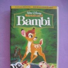 Cine: BAMBI. WALT DISNEY. VHS.. Lote 41913343