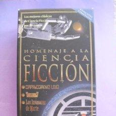 Cine: HOMENAJE A LA CIENCIA FICCION. CAPRICORNIO UNO, SATURN 3, LOS INVASORES DE MARTE. VHS.. Lote 41914468