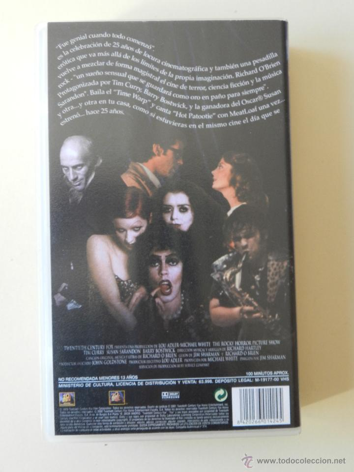 Cine: VHS THE ROCKY HORROR PICTURE SHOW - Foto 3 - 42343861
