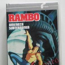 Cine: RAMBO AMENAZA SUBTERRÁNEA DIBUJOS ANIMADOS ACCIÓN PERSONAJE DE PELÍCULA CINE ACCIÓN DE STALLONE VHS. Lote 42801007