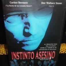 Cine: INSTINTO ASESINO VHS - SLASHER DE SERIE B UNICO EN TODOCOLECCION ¡¡REBAJADA 40%!. Lote 43282859