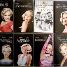 Cine: COLECCIÓN VHS VIDEO MARILYN MONROE. THE DIAMOND COLLECTION - 8 PELÍCULAS.. Lote 43671035