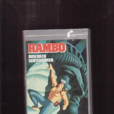 Cine: RAMBO AMENAZA SUBTERRÁNEA ( VHS ). Lote 43881996
