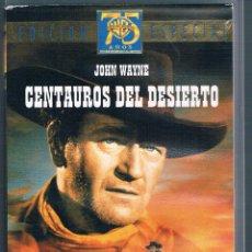 Cine: VHS CENTAUROS DEL DESIERTO JOHN WAYNE EDICIÓN ESPECIAL. Lote 44391352