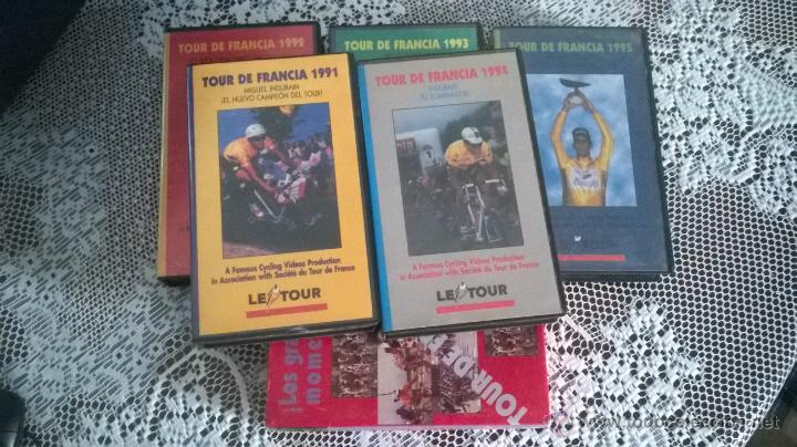 LOS CINCO TOURS DE FRANCE DE MIGUEL INDURAIN. MEJORES MOMENTOS (Cine - Películas - VHS)