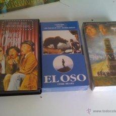 Cine: UNA NOCHE EN LA OPERA-EL OSO-RAPA NUI LOTE VHS. Lote 44904042