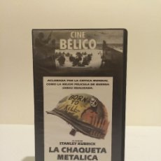 Cine: VHS LA CHAQUETA METÁLICA (STANLEY KUBRICK). Lote 44913315
