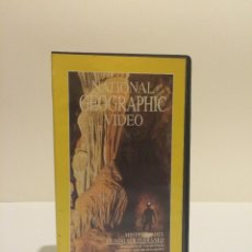 Cine: VHS MISTERIOS DEL MUNDO SUBTERRANEO NATIONAL GEOGRAPHIC. Lote 44913960