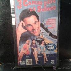 Cine: CINTA VHS - 3 CAMAS PARA UN SOLTERO-SIN DESPRECINTAR. Lote 45153752
