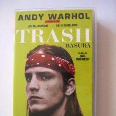 Cine: PELICULA VHS. TRASH. ANDY WARHOL. ENVIO INCLUIDO.. Lote 45180360