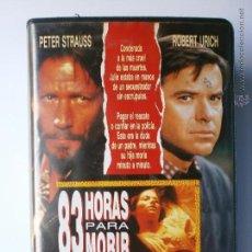 Cine: 83 HORAS PARA MORIR-1990. Lote 45256564