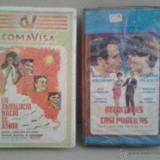 Cine: DOS PELICULAS ESPAÑOLAS ORIGINALES AÑOS 70 O 80,MANOLO ESCOBAR . Lote 45299049