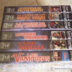 Cine: EL TERROR DE JESUS FRANCO. ESTUCHE CON 6 PELICULAS EN VHS. ED. DIVISA. PRECINTADO.. Lote 45705038
