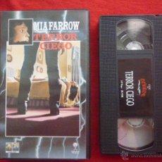 Cine: VHS-''TERROR CIEGO''-(DIR. RICHARD FLEISCHER,1971)-CON MIA FARROW-COLECCION CINE DE TERROR. Lote 45761195