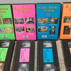 Cine: ENVIO CON TC: 3€ LOS MEJORES CORTOS DEL CINE ESPAÑOL LOTE DE 4 CINTAS DE VÍDEO VHS. Lote 45941388