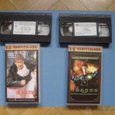 Cine: LOTE 2 CINTAS VÍDEO VHS: ERASER - EL FUGITIVO (WARNER) V. O. SUBTITULADA CASTELLANO ¡COLECCIONISTA!. Lote 45978524