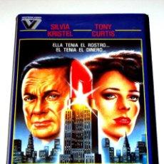 Cine: EL ROSTRO DEL MILLON DE DOLARES (1981) - MICHAEL O'HERLIHY TONY CURTIS SYLVIA KRISTEL VHS MUY RARA. Lote 45982371