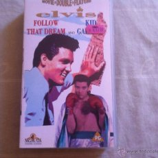 Cine: VHS DOBLE-ELVIS-FOLLOW THAT DREAM AND KID GALAHAD. Lote 46026047