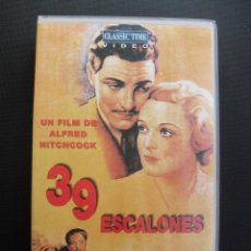 Cine: 39 ESCALONES. ALFRED HITCHCOCK, 1935. VHS.. Lote 46239818