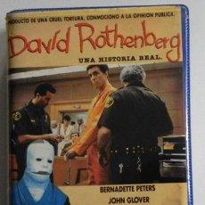 Cine: DAVID ROTHENBERG - UNA HISTORIA REAL - PELÍCULA DRAMA VHS HECHO REAL - PADRE LOCO RUPTURA DE FAMILIA. Lote 46542715