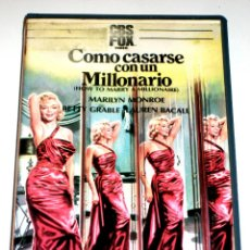 Cine: COMO CASARSE CON UN MILLONARIO (1953) - JEAN NEGULESCO MARILYN MONROE LAUREN BACALL VHS 1ª EDICION. Lote 46761765