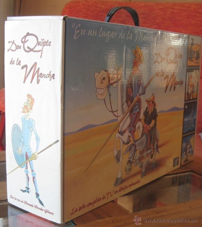 Cine: DON QUIJOTE DE LA MANCHA (CAJA ESTUCHE CON 18 CINTAS VHS-DIBUJOS ANIMADOS TVE) - Foto 2 - 46890075