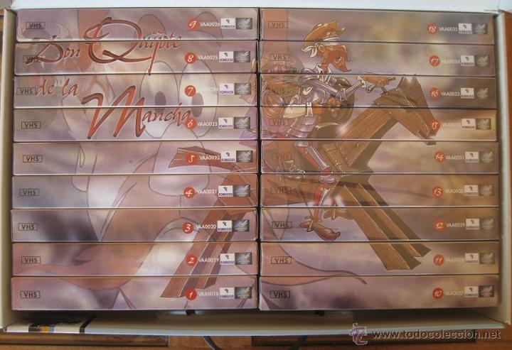 Cine: DON QUIJOTE DE LA MANCHA (CAJA ESTUCHE CON 18 CINTAS VHS-DIBUJOS ANIMADOS TVE) - Foto 5 - 46890075