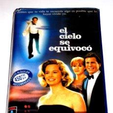 Cine: EL CIELO SE EQUIVOCO (1989) - EMILE ARDOLINO RYAN O'NEAL CYBILL SHEPHERD ROBERT DOWNEY JR. VHS 1ª ED. Lote 47039323