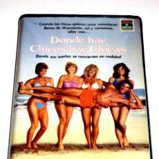 Cinema: DONDE HAY CHICOS HAY CHICAS (1984) - LISA HARTMAN LORNA LUFT WENDY SCHAAL VHS MUY RARA. Lote 47372784