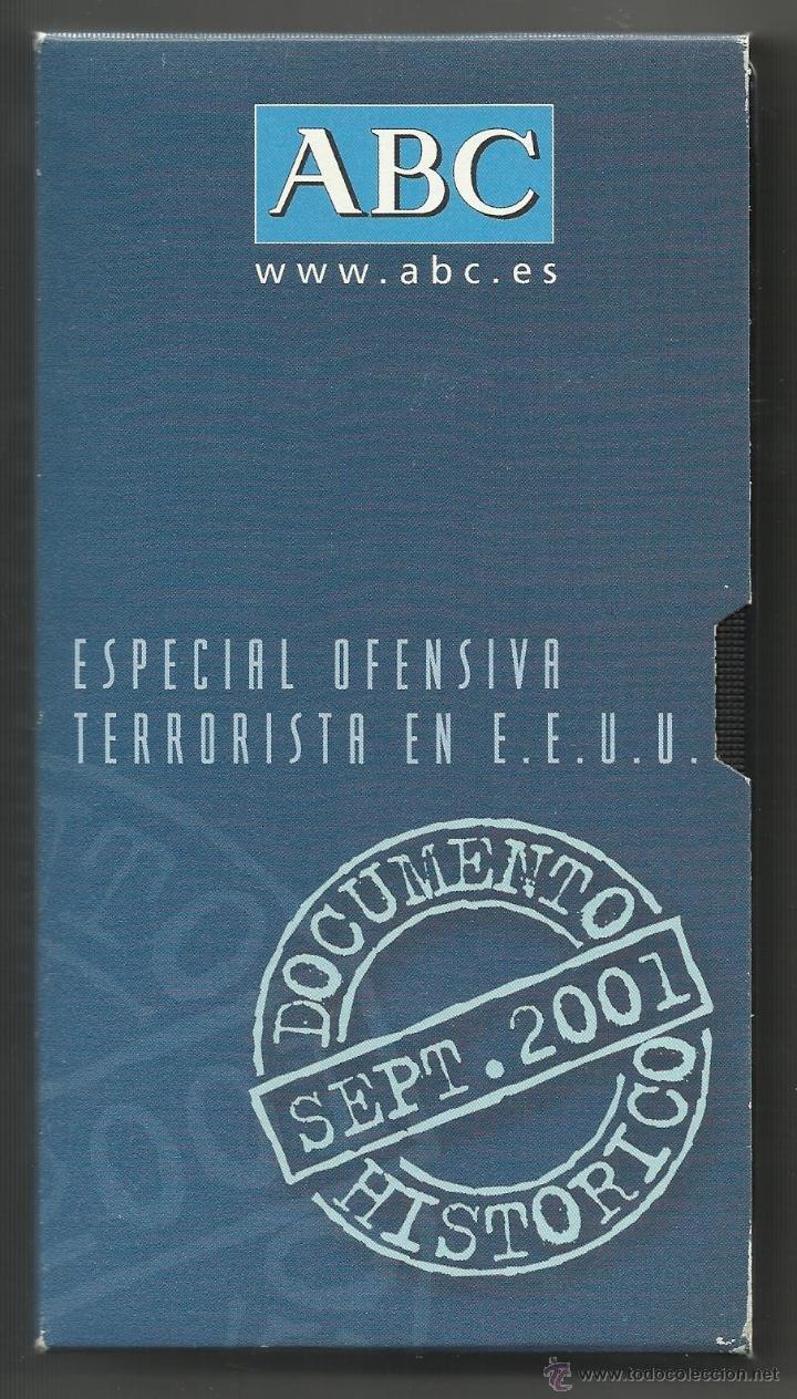 ESPECIAL OFENSIVA TERRORISTA EN ESTADOS UNIDOS (ATENTADOS DEL 11-S) - ABC, 09/2001 (Cine - Películas - VHS)