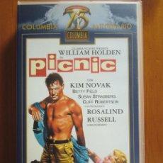 Cine: VHS PICNIC (1.955) DE JOSHUA LOGAN. CON WILLIAM HOLDEN Y KIM NOVAK. ¡NUEVA! PIC NIC. PIC-NIC. Lote 54848820